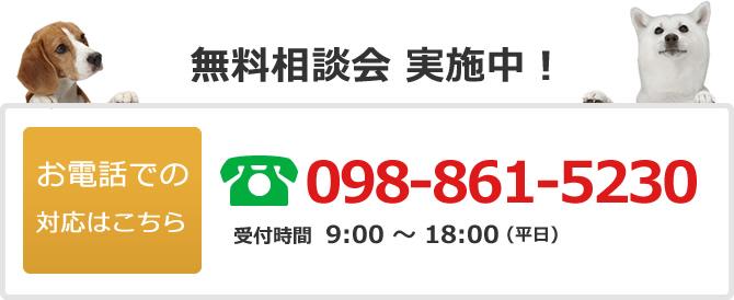 電話でのお問い合わせは098-861-5230